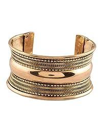 Ganapathy Gems Oxidised Brass Plated Handcuff (8092)