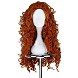 Ainiel Women's Afro-hair Lolita Wavy Fluffy Cosplay Wig Long Brown 27inches