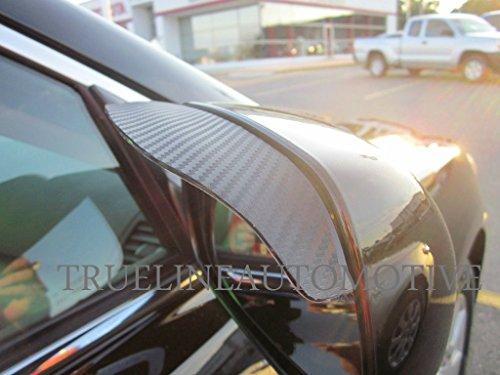 Black Carbon Fiber Mirror Visor Rain Guards