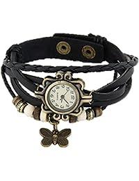 ZDelhi.com Black Vintage Butterfly Bracelet Watch For Women & Girls