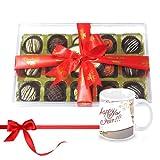 Sweet Chocolates Gift Box Hamper With New Year Mug - Chocholik Luxury Chocolates