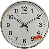 Ajanta (Oreva) Silent Movement (32 Cm X 32 Cm) Plastic Round Shape Wall Clock For Home And Office (White) - 168