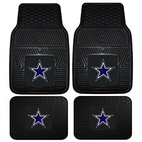 Front & Rear Car Truck SUV Floor Mats Heavy Duty Vinyl – NFL Football – Dallas Cowboys