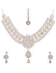 Nimble Golden Metal Choker Necklace Set For Women - B00XVMKW2U