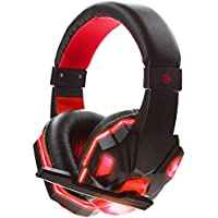 3.5mm Wired PC Stereo Gaming Headset Headband Headphones With Microphone LED Light For PC