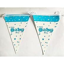 Satyam Kraft Baby Flag Banner (Blue) - Kids Party Supplies, Theme Birthday Party, Birthday Banners - Valentine...