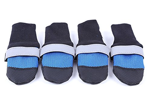 Lovely Baby Best Pet Dogs Anti Slip Shoes Soft Sole Rubber Boots Reflective Paw Protector For Small Puppy Medium...