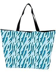 Snoogg Abstract Blue Chetah Design Designer Waterproof Bag Made Of High Strength Nylon