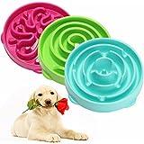 Alcoa Prime Newest!!!Pet Dog Cat Interactive Slow Food Bowl Anti Slip Gulp Feeder Healthy Bloat Dish For Pet Feeding...