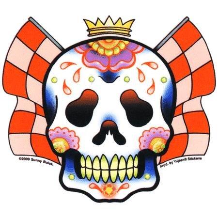 "DAY OF THE DEAD TATTOO STICKER /"" NEW /"" LACE SUGAR SKULL STICKER SUNNY BUICK"