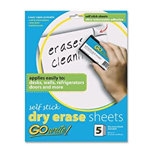 Amazon.com : Pacon GoWrite! Dry Erase Self-Adhesive Sheets