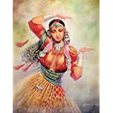 "Dolls Of India ""Court Dancer"" Reprint On Paper - Unframed (71.12 X 55.88 Centimeters)"