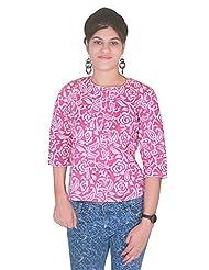Selfi Printed Pink Solid Top