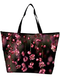 Snoogg Pink Simple Flowers Waterproof Bag Made Of High Strength Nylon