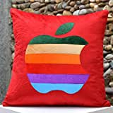 Multi Coloured Apple-Bright Colours And Beautifully Etched Motif In Velvet - B00NMBV87I
