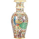 APKAMART Handcrafted Marble Flower Vase - 9 Inch - Flower Pot Cum Showpiece For Table Decor, Room Decor, Home...