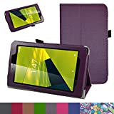 vodafone smart tab mini 7 / ALCATEL pixi 4 7 Case,Mama Mouth PU Leather Folio 2-folding Stand Cover for 7