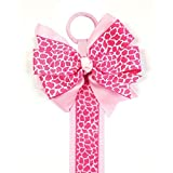Wrapables Hair Clip And Hair Bow Holder, Pink Leopard