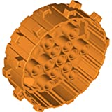 Lego Parts: #6062139 Wheel Hard Plastic With Small Cleats (Bright Orange, Set Of 50)