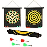 "ALIG BEST QUALITY OF 12"" INCH REVERSIBLE MAGNETIC DART BOARD TWO SIDES WITH FREE 4 DARTS"