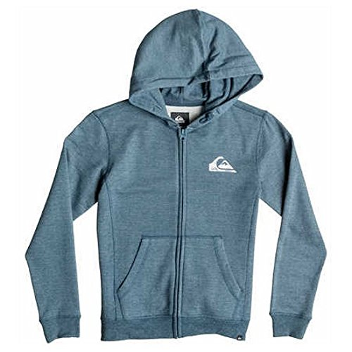 Quiksilver Everyday Heather Zip - Sudadera con capucha y cremallera, color azul, talla M