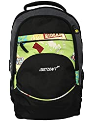 Justcraft Polyester 30 Ltrs Parrot Green School Bag