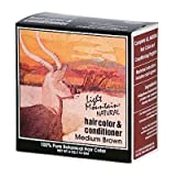 Light Mountain Natural Hair Color And Conditioner Medium Brown - 4 Fl Oz
