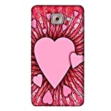 PrintVisa Designer Back Case Cover For Samsung Galaxy On Max (Pattern Background Word Heart Romance )