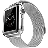Apple Watch Band, Milanese Loop Wrist Band With Metal Stainless Steel Mesh Magnetic Closure Connector Buckle Replacement...