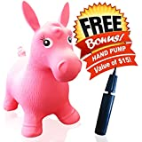 ToysOpoly Inflatable Horse Bouncer - Cutest Ride-on Bouncy Animal Hopper For Kids With Best Eco-friendly Rubber...