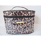 Victoria S Secret Brown Leopard Travel Makeup Cosmetic Train Case