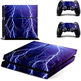 Elton Lightning Theme Skin Decal Sticker For PS4 Playstation 4 Console Controller