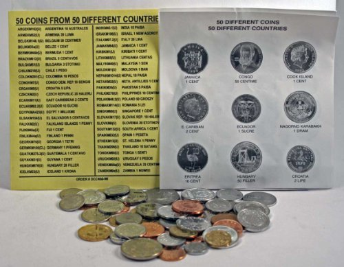 50 DIFFERENT UNCIRCULATED COINS FROM 50 DIFFERENT