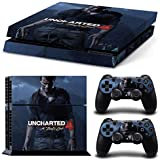 PS4 Skin Uncharted 4 PlayStation 4 Limited Edition Sticker Skin For PS4 Console And Controllers