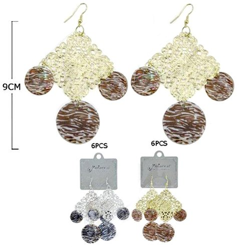 Compare Prices Earrings Brushed Metal 72 Pieces Misc