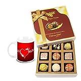 Fascinating Collection Of White Chocolates And Truffles With Love Mug - Chocholik Luxury Chocolates