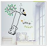 Generic DIY Life Is Sweet Cute Bear & Dog Wall Stickers Vinyl Decals Art Home Decor