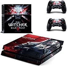 PS4 Skin/Decals/Stickers - Sony PS4 Play Station 4 High Definition Skin - 2016 - Witcher 3 Wild Hunt PS4 Skin