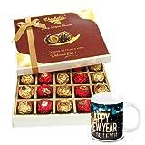 Totally Truffles Gift Box Packing With New Year Mug - Chocholik Belgium Chocolates