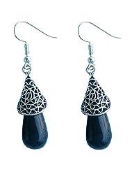 Deara Women's Filigree Enchantment In Black Earrings