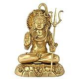 Redbag Lord Shiva Big Mahadev Brass Statue 4511 ( 49.53 Cm, 36.83 Cm, 24 Cm)