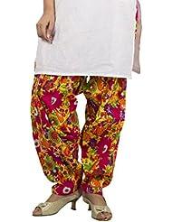 Rama Designer Multi Color Floral Printed Free Size Awsome Flared Cotton Patiala - B01C6XB048