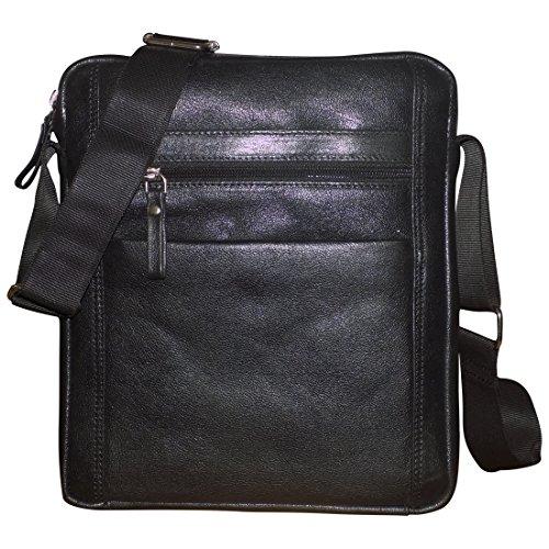 Style98 100% Genuine Leather Crossbody Messenger Tablet Bag||Handbag||Hard Disk Bag||Neck Pouch||Shoulder Bag... - B071GQNJXY
