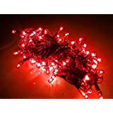 Diwali Lights Pack Of 5 Rice Lights | 12.5 Meter / 41 Feet Long | 81 Bulbs In RED Colour