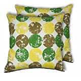 House This Game On-Cilcle Texture Green Set Of 2 Cushion Covers- 16 X 16