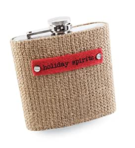 mud pie kitchen accessories mud pie burlap decor flask home amp kitchen 3403