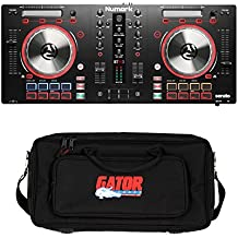 Numark Mixtrack Pro 3 All-In-One DJ Controller For Serato DJ. With Gator GK-2110 Gig Bag .
