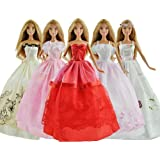 Qiyun Lot 5 P 5x Fashion Handmade Clothes Dresses Grows Outfit For Barbie Doll E Set