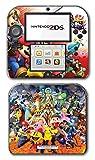 Super Smash Bros Melee Brawl Mario Pikachu Yoshi Mega Man Zelda Sonic Metroid Fire Emblem Video Game Vinyl Decal Skin Sticker Cover for Nintendo 2DS System Console