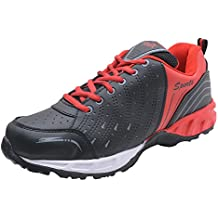 Freedom Daisy Men's Mesh Black & Red Sports/Running Shoes